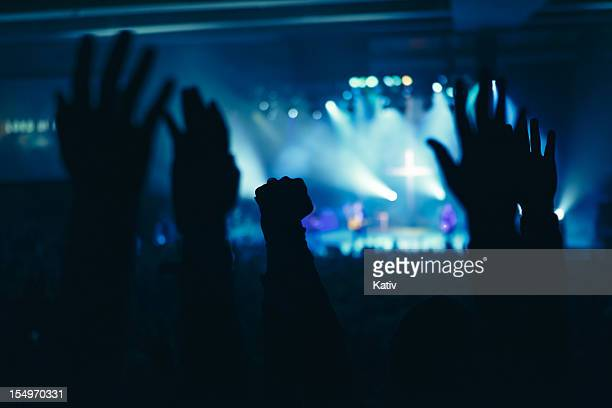 hands in worship - church stock pictures, royalty-free photos & images