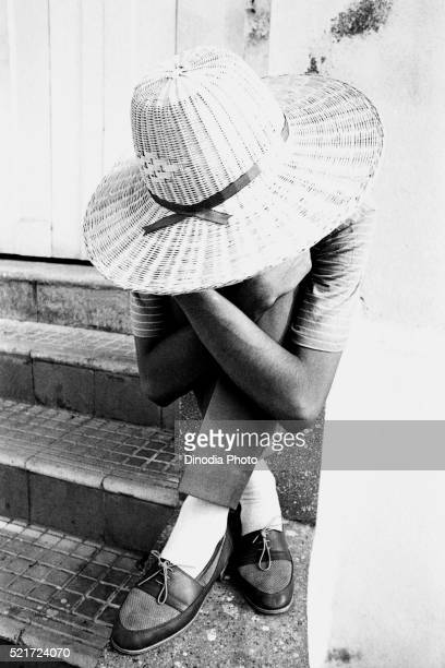 hands legs hat and shoes, mumbai, maharashtra, india, asia, 1985 - 1985 stock pictures, royalty-free photos & images