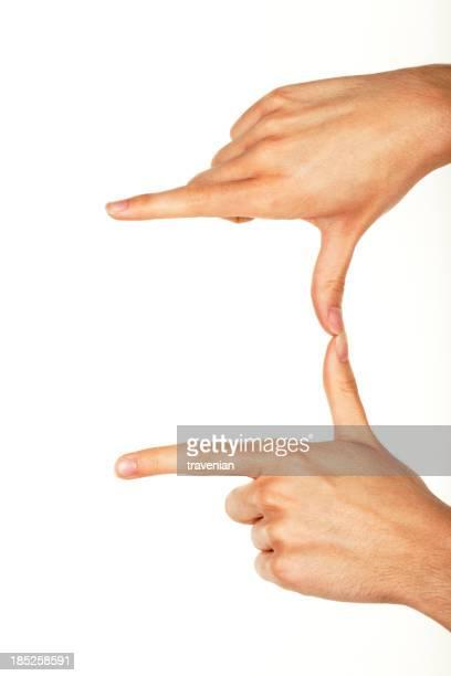 Hände machen Rahmen
