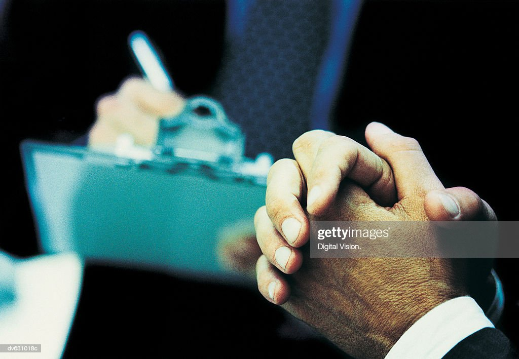 Hands of a Businessman : Stock Photo