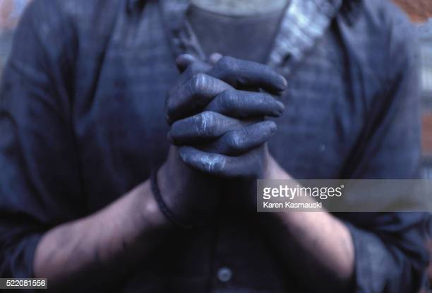 hands of a child sweatshop worker - child labour stock pictures, royalty-free photos & images