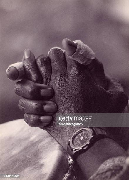 Hands of a drummer