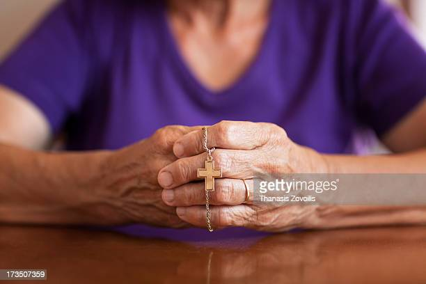 Hands of a senior woman