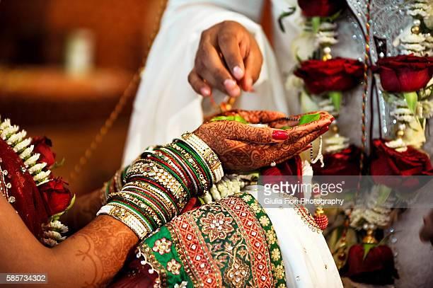 Hands of an Indian bride