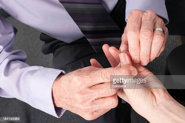 Hands of Chiropractic Doctor Testing Patient  for Carpal Tunnel