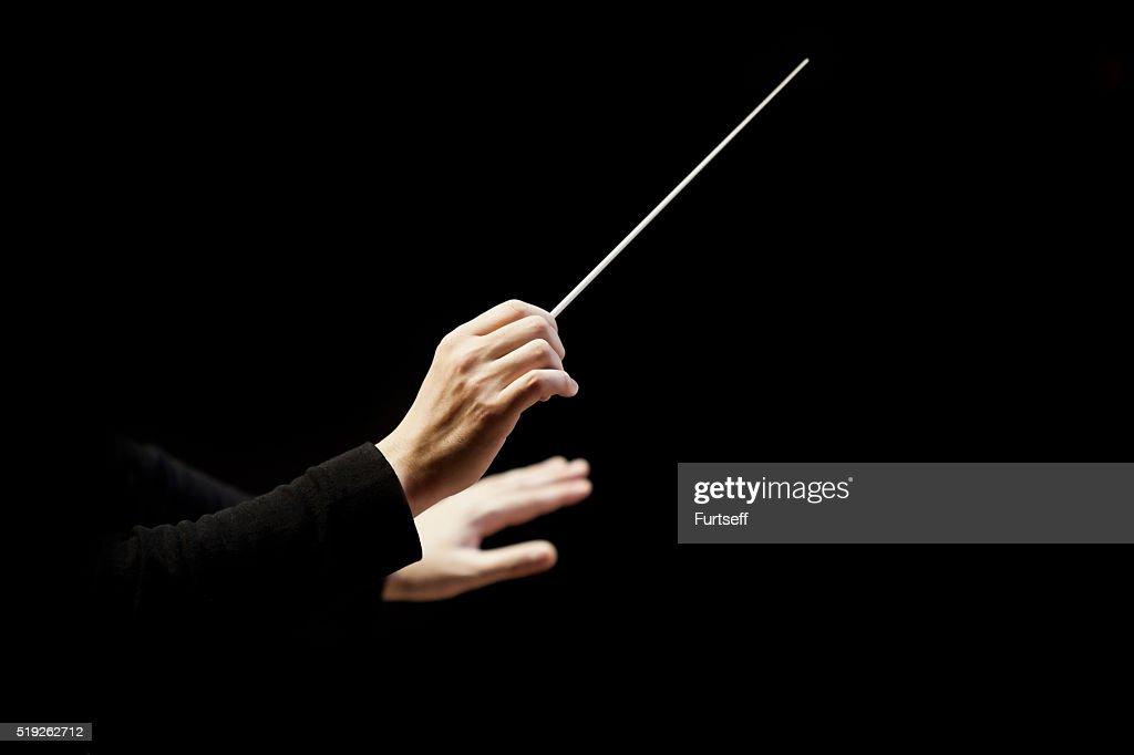 Hände des Dirigent : Stock-Foto