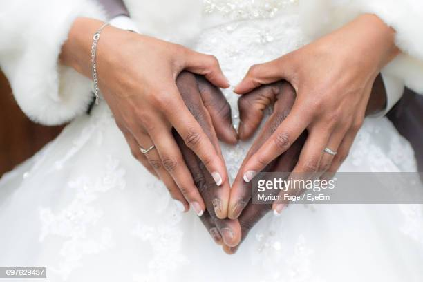 Hands Of Couple At Wedding