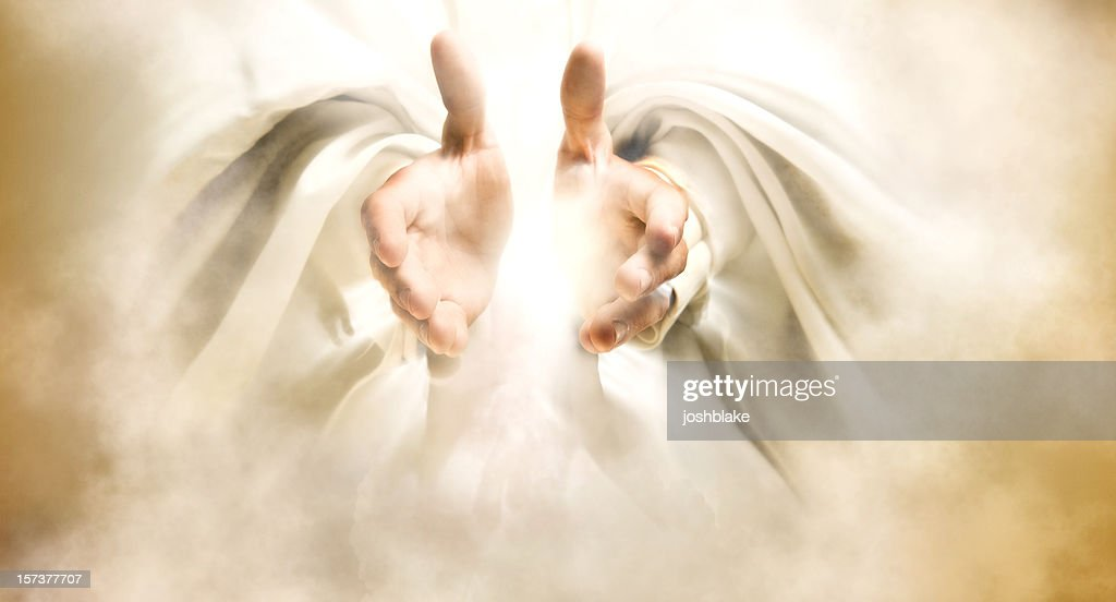 Hands of God : Stock Photo