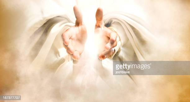 hands of god - elysium stock photos and pictures