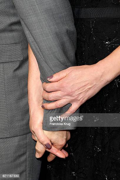 Hands of Justice Minister Heiko Maas and Natalia Woerner as a detail at the 18th Media Award by Kindernothilfe at Volkswagen Group Forum on November...