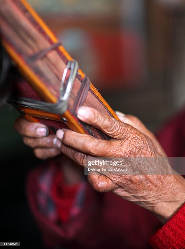 Hands of old holy man : Stock-Foto