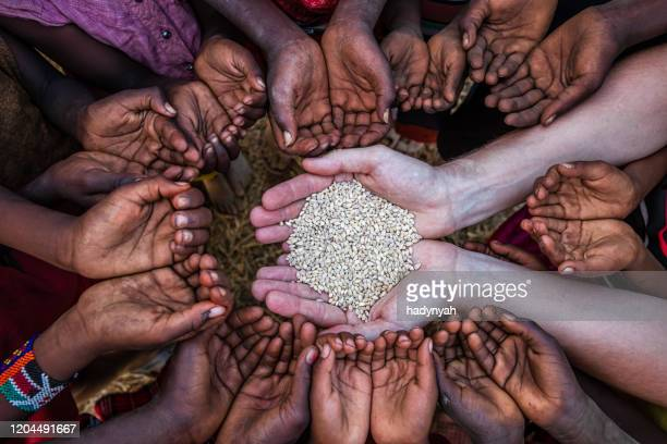 hands of poor - children asking for food, africa - sudan stock pictures, royalty-free photos & images