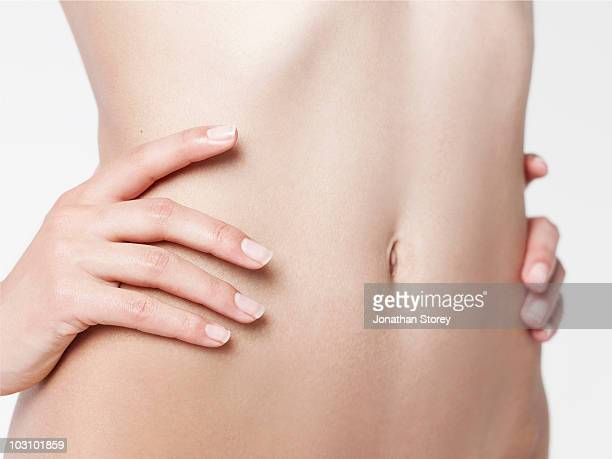 hands on stomach