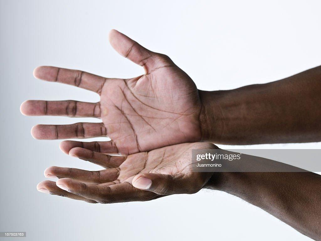 Hands open : Stock Photo