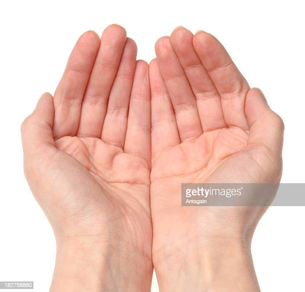 hands open - hands cupped stock pictures, royalty-free photos & images