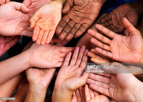 hands - multiculturalism stock pictures, royalty-free photos & images