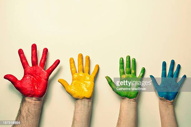rygb hands - catherine macbride stock pictures, royalty-free photos & images