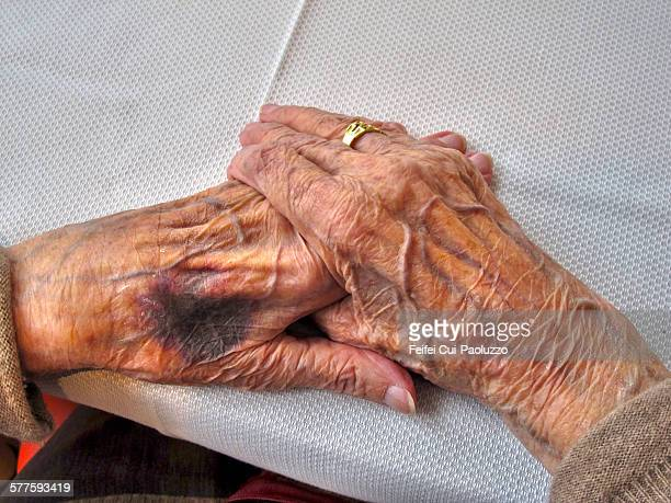 hands - liver spot stock photos and pictures