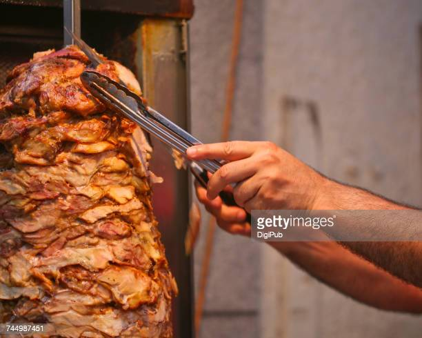 hands - doner kebab stock photos and pictures