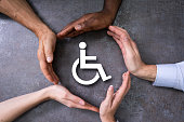Hands Protecting Disabled Handicap Icon