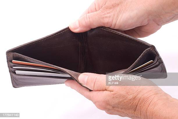 Hands reveal a Empty Wallet