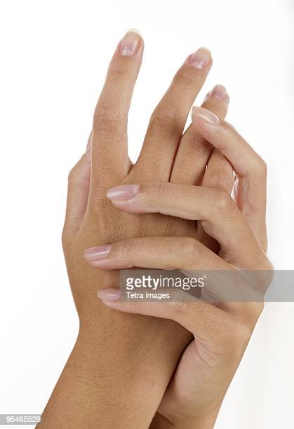 Hands rubbing together