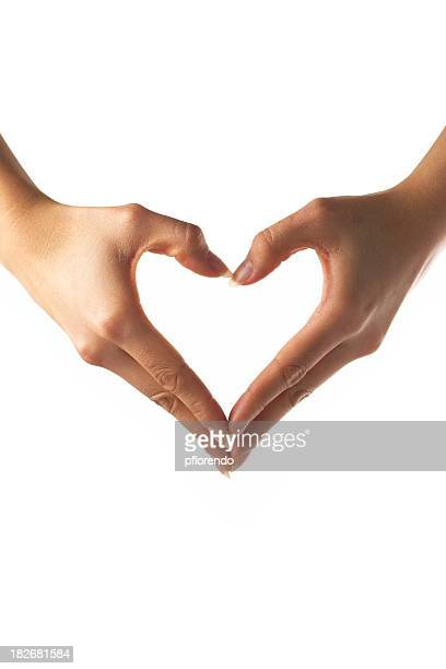 Mains forme de cœur