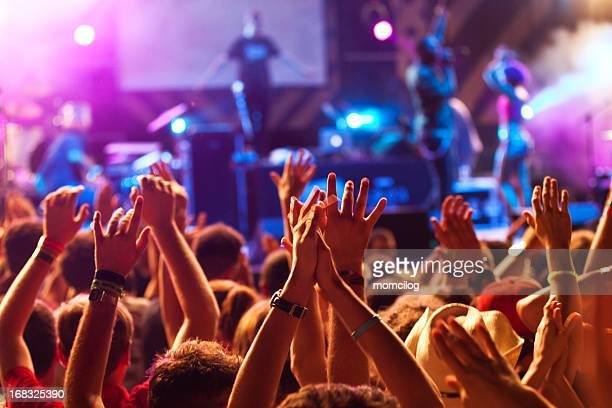 hands up at the concert - pop music stock pictures, royalty-free photos & images