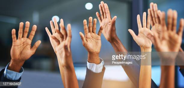 hands up if you've got something to say - participant stock pictures, royalty-free photos & images