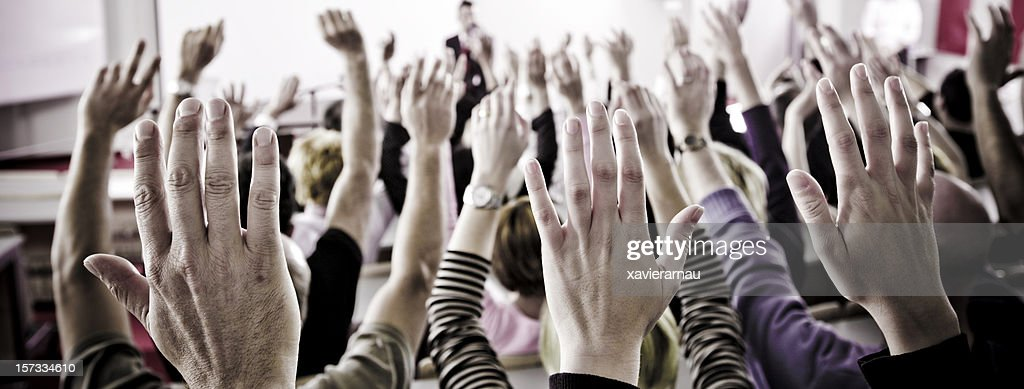 Hands up : Stock Photo