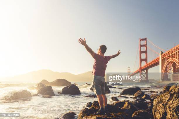 hands up! - san francisco california stock photos and pictures