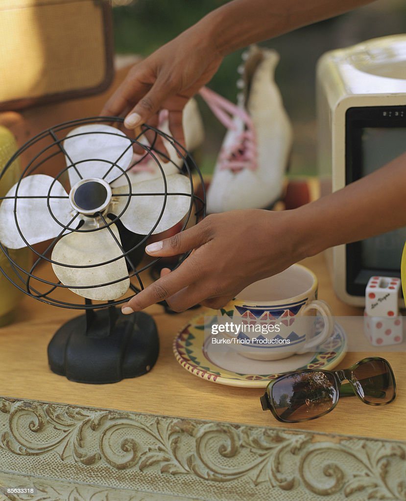 Hands With Antique Fan High-Res Stock Photo - Getty Images