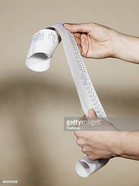 hands with receipt - receipt stock pictures, royalty-free photos & images