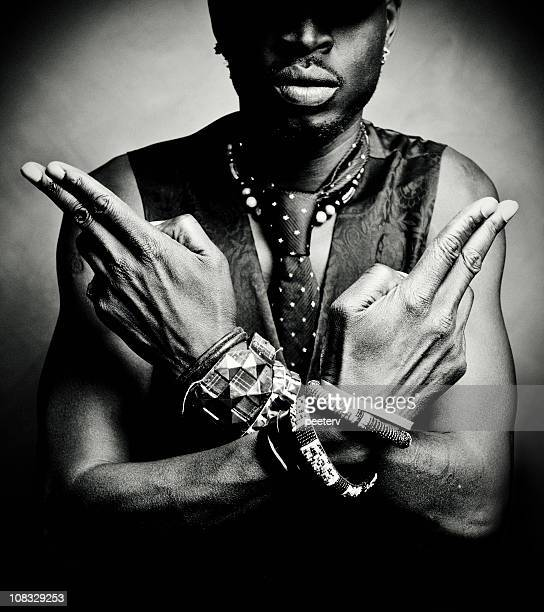 hands/guns - reggae stock photos and pictures