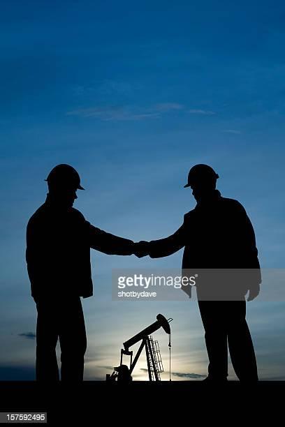 Handshake at a Pumpjack