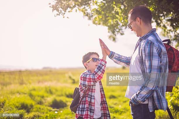 Handshake in nature