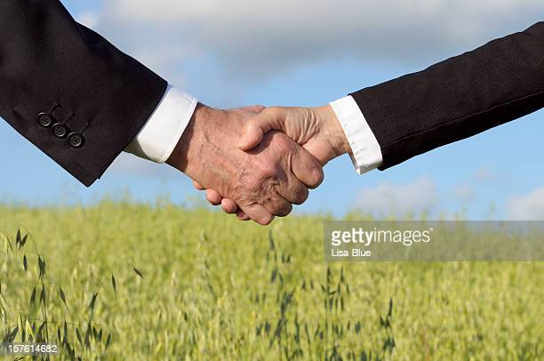 Handshake in the Countryside