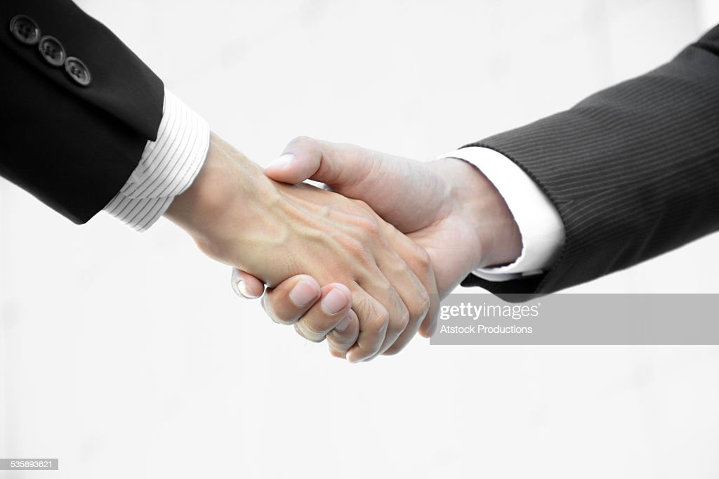 Handshake of businessmen : Stock Photo