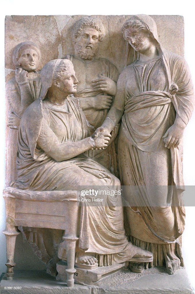 Handshake or dexiosis tomb sculpture pictures getty images handshake or dexiosis greeting bas relief or relief carving on ancient greek grave stone or m4hsunfo Choice Image
