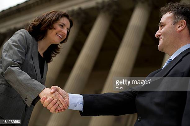 handshake - town hall government building stock pictures, royalty-free photos & images