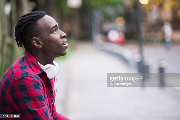 Handsome African teenager