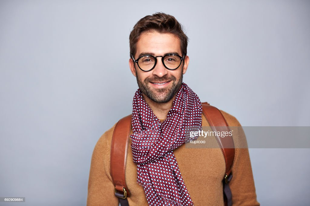 Handsome and stylish : Foto stock