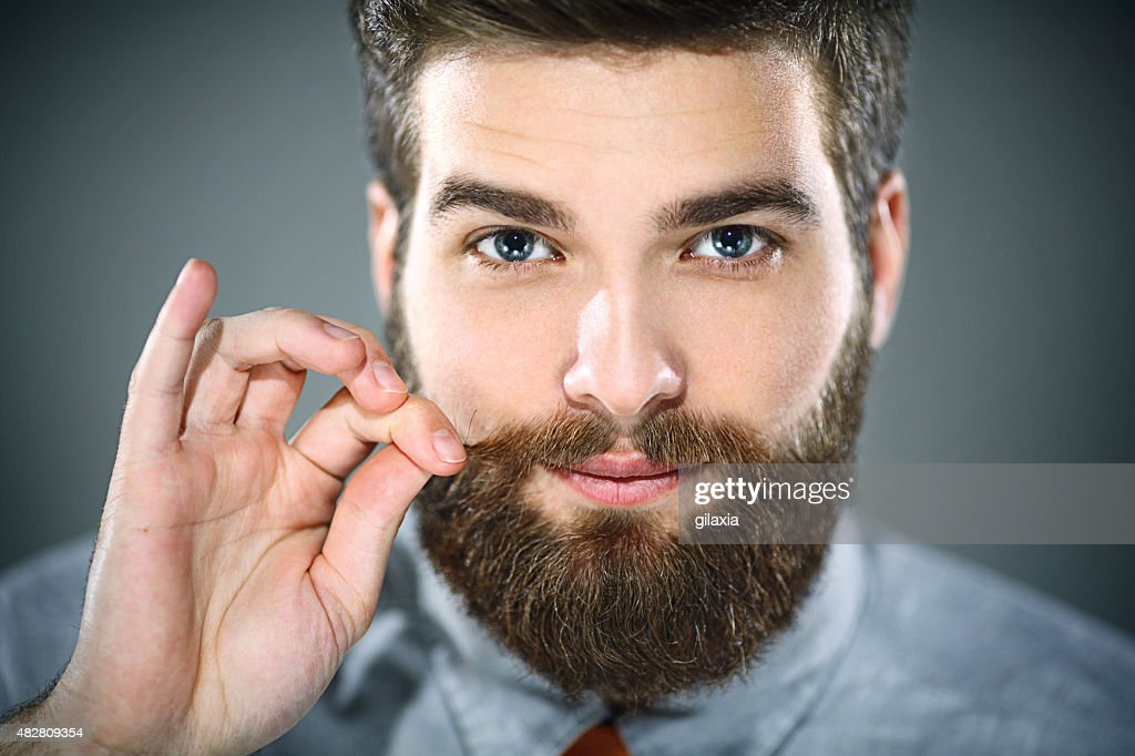 Handsome bearded man. : Stock Photo