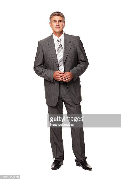 handsome businessman. isolated - das nekkleding stockfoto's en -beelden