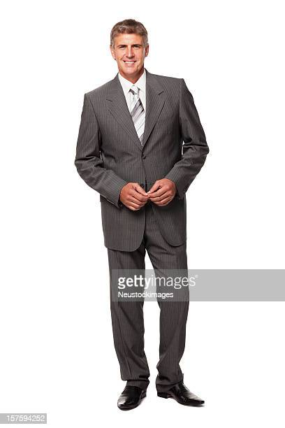 Handsome Businessman Smiling. Isolated