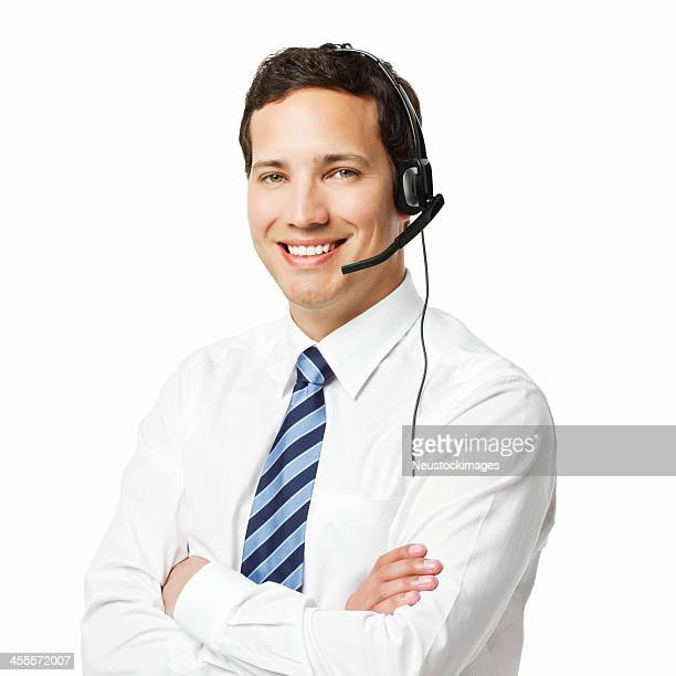 Handsome Call Center Worker - Isolated
