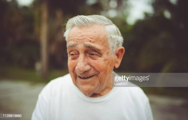 handsome funny elderly man in a portrait - 90 plus years stock pictures, royalty-free photos & images