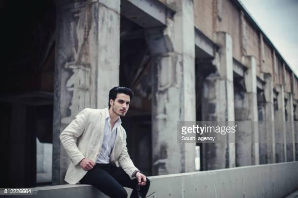 Handsome gentleman outdoors
