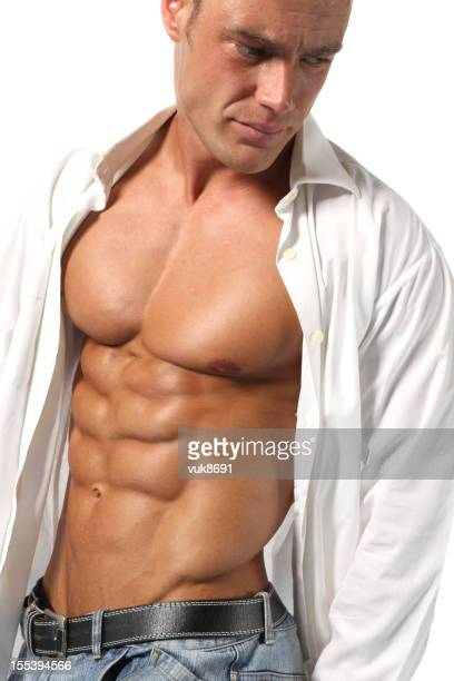 handsome guy - male torso stock photos and pictures