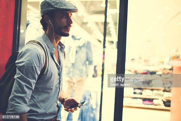 Handsome hipster